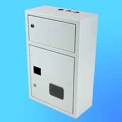 Щиток навесной под 3-х ф.индукционный счётчикЩРУ-3Н18 замок+окно(395х345х155)
