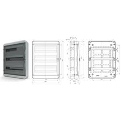 BNK 65-54-1  - щит навесной пластиковый на 54 модуля IP65 (ЩРН-54 пл IP65)