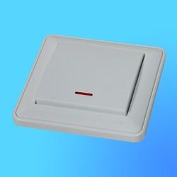 """Выключатель проходной 1 СП ВС616-157-18  белый, со свет.инд., """"Вессен59"""" (Wessen)"""