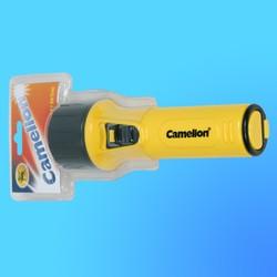 """Фонарь """"Camelion 712"""" с криптоновой лампой, пластик, желтый, (используются батареи-2хR20)"""