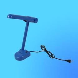 Светильник настольный Camelion KD-001, G23, синий, тип лампы - энергосберегающая 9Вт, складной