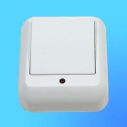 """Выключатель 1 ОП А16-046, белый, со световым индикатором, """"Прима"""" (Wessen)"""
