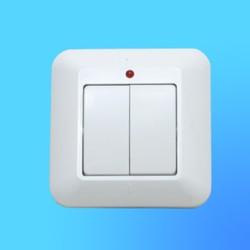 """Выключатель 2 СП С56-039 белый, со световым индикатором, """"Прима"""" (Wessen)"""