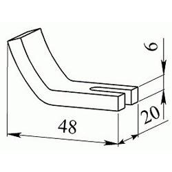 Контакт контактора КПВ 603 неподвижный