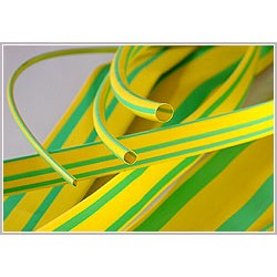 Тонкостенная термоусаживаемая трубка жёлто-зелёная (ТУТ(ж/з)нг) с коэффициентом усадки 2:1