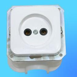 Розетка 1 СП РС16-013 АБС, без рамки, с монтажной коробкой (Пинск)