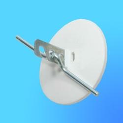 Розетка потолочная РП-1 с крюком, белая (Wessen)