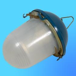 Светильник НСП 02-100-036.04/КУ2 б/с (прозрачный поликорбонат, синий корпус, крюк) Клинцы