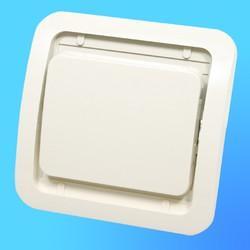 """Выключатель 1 СП """"Мимоза"""" крем, без декор.вставки  32001 (Makel)"""