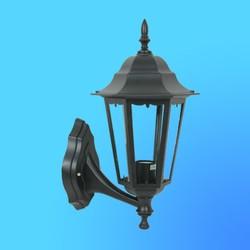 Светильник садово-парковый 4301 шестигр. конструкция, 100Вт Е27 IP33 410х260 (металл+стекло) черный