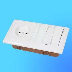 """Блок 3В-РЦ-689 (3-кл.выкл.+розетка) АБС бел. """"Стиль"""" (Мин)"""