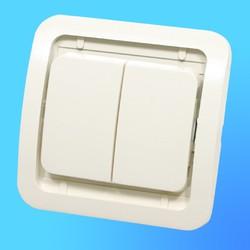 """Выключатель 2 СП """"Мимоза"""" крем, без декор.вставки 32003  (Makel)"""