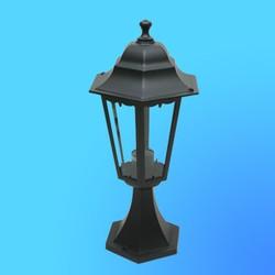Светильник садово-парковый 4304 шестигр. конструкция, 100Вт Е27 IP33 462х225 (металл+стекло) черный