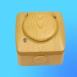 """Розетка евро 1 ОП """"Alsu"""" ольха, брызгозащищенная с крышкой 5040700218 (El-Bi)"""