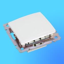 """Выключатель проходной-промежуточный 1 СП """"Valena"""" без рамки белый 774407  (Legrand)"""