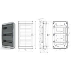BNK 65-36-1 - щит навесной пластиковый на 36 модулей IP65 (ЩРН-36 пл IP65)