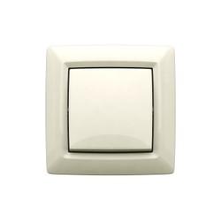 Выключатель-переключатель (коридорный) скрытой установки, цвет белый