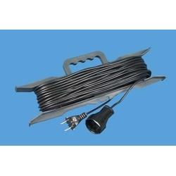 Удлинитель на рамке УБ-03 25 метров без заземления ПВС 2*0,75, 1 розетка