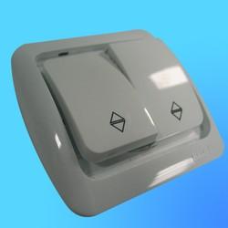 """Выключатель проходной 2 СП """"Tuna"""" белый, без декор.вставки 5020200211 (El-Bi)"""