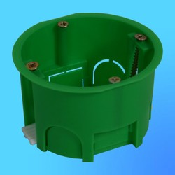Коробка установочная КУ1201 для полых стен, пласт. лапки 68х45 мм(HEGEL)
