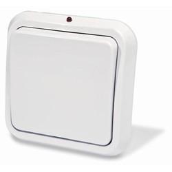 Выключатель одноклавишный скрытой установки с подсветкой, цвет белый