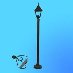 Светильник садово-парковый 6201 четырехгр.конструкция, 100Вт Е27 IP33 1500 мм (металл+стекло) черный