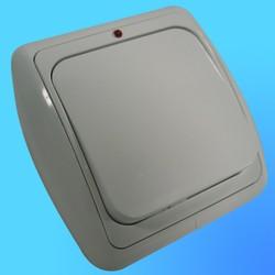 Выключатель 1 СП С16-003 АБС бел./бел. рамка со световым индикатором(Ростов)