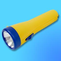 """Фонарь """"Focusray-121"""" с криптоновой лампой, пластик, желтый (используются батареи-2хR20"""