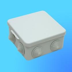 Коробка эл. монтажная ОП С3В108-002 пласт. 100*100*55 с отверстиями с 8 муфтами (GUSI)