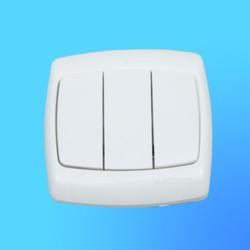 """Выключатель 3 СП ВС05У-321 белый, 10 """"А"""", """"Рондо"""" (Wessen)"""