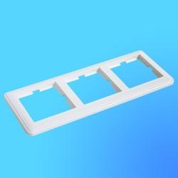 """Рамка универсальная для 3-х местных блоков КД-3-18 белая, """"Вессен59"""" (Wessen)"""