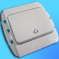 """Кнопка звонковая СП """"Zirve"""" белая, без бок.декор.вставок  5010200207 (EL-BI)"""