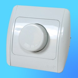 """Светорегулятор (Диммер) 1 СП """"Zirve"""" 800 Вт белый, с бок.декор.вставками 5010202212 (El-Bi)"""