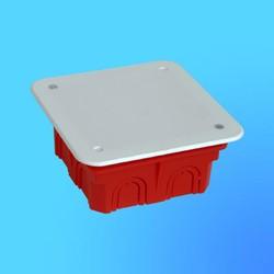 Коробка разветвит. КР1101 для сплошных стен квдр. с крышкой 100х100х40 мм(HEGEL)