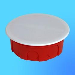Коробка разветвит. КР1105 для сплошных стен круглая с крышкой 100х40 мм(HEGEL)