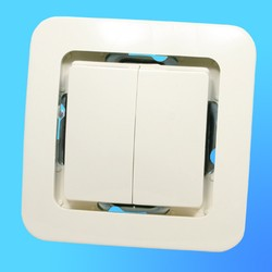 """Выключатель 2 СП """"Lillium"""" крем, без декор.вставки 71203  (Makel)"""