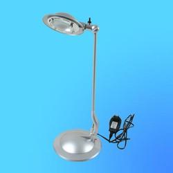 Светильник настольный Camelion KD-116В, G6, 35, серебро, тип лампы JC-50Вт