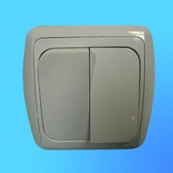 Выключатель 2 СП С56-002 АБС бел./бел. рамка (Ростов)