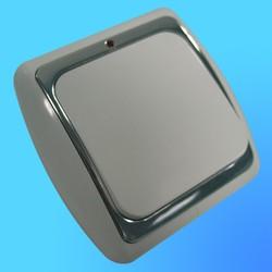 Выключатель 1 СП С16-003 АБС бел./сереб. рамка со световым индикатором (Ростов)