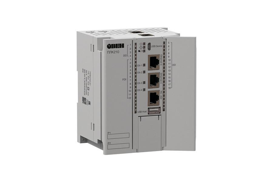 Начались продажи контроллера для средних и распределенных систем автоматизации ОВЕН ПЛК210