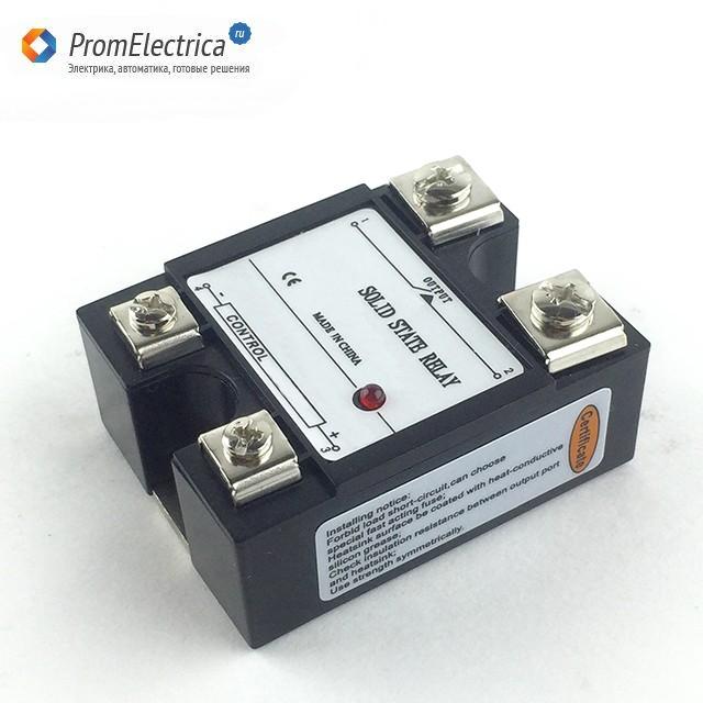 SSR-1-D22DC25 Твердотельное реле 25 Ампер, 5-220 Вольт постоянного тока, управление 3-32 VDC, цена - купить у Промэлектрика / Реле промежуточные / Маркет / Элек.ру