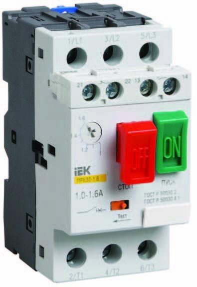 Выключатель автоматический для защиты электродвигателей 13 IEK купить цена