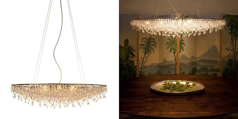 crystal rain suspension lamp oval anthologie quartett depends on lamp size. Black Bedroom Furniture Sets. Home Design Ideas