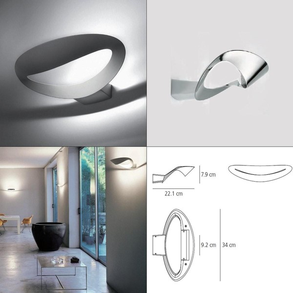artemide mesmeri halo wall sconce silver inventory sale r7s 1x230w halo. Black Bedroom Furniture Sets. Home Design Ideas