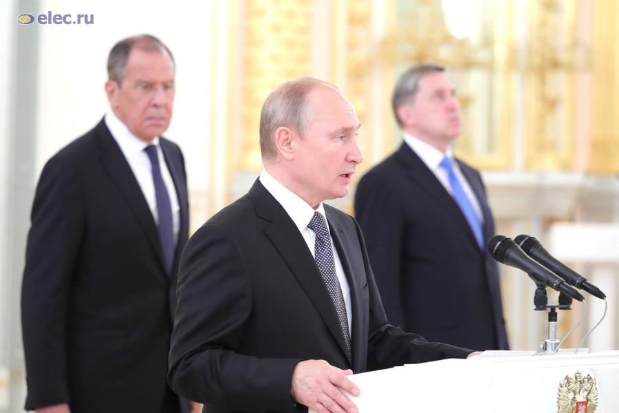 В Кремле состоялась торжественная церемония вручения верительных грамот