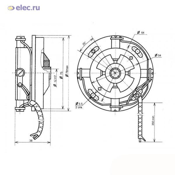 Тахогенератор постоянного тока ТП80-20-0, 2