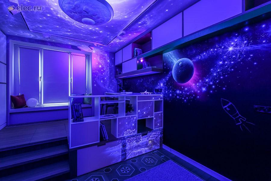 Uniel принял участие в освещении «космической спальни» в рамках проекта «Квартирный вопрос»