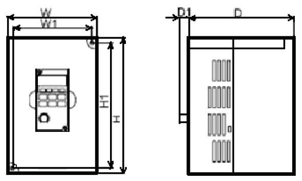 IMD751U21B преобразователь частоты 0,75 кВт 5 А, 1Ф, 220В заменит VFD007M21A