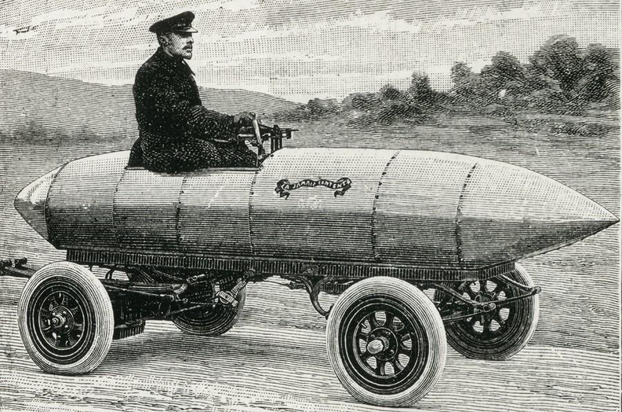 Испытатель и его прототип первого полноценного электромобиля (если вы подумали, что это Ленин, то ошиблись)