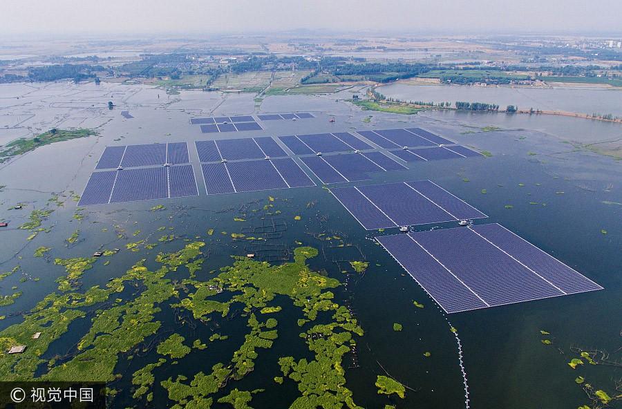 ВКитайской республике начала работу крупнейшая вмире плавучая электростанция насолнечной энергии